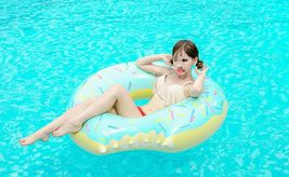 Swim About Large Donut Swim Ring Tube Pool Inflatable Floats for Adults (Mint) image 3