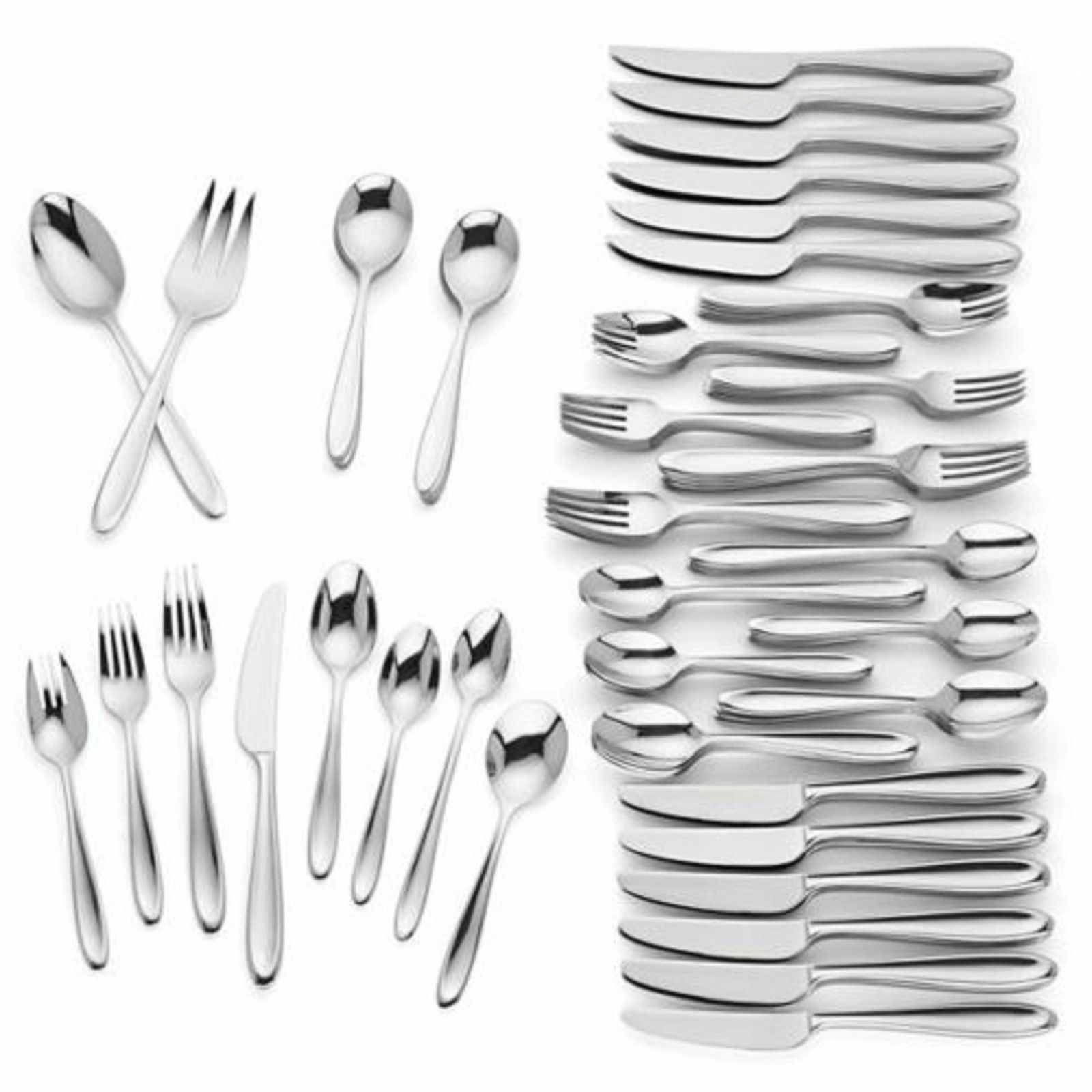 Lenox Barnaby 110 Piece Flatware Set Service For 12