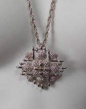 Vintage Signed Monet Silver-tone Pendant Chain Link Necklace - $24.74
