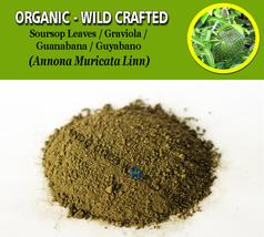 POWDER Soursop Leaves Guyabano Guanabana Graviola Annona Muricata Organic Wild - $7.85+