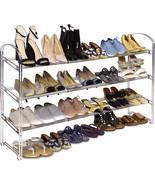 Seville Classics 3-Tier Expandable 24-Pair Non-Slip Metal Frame Shoe Sto... - $25.99+