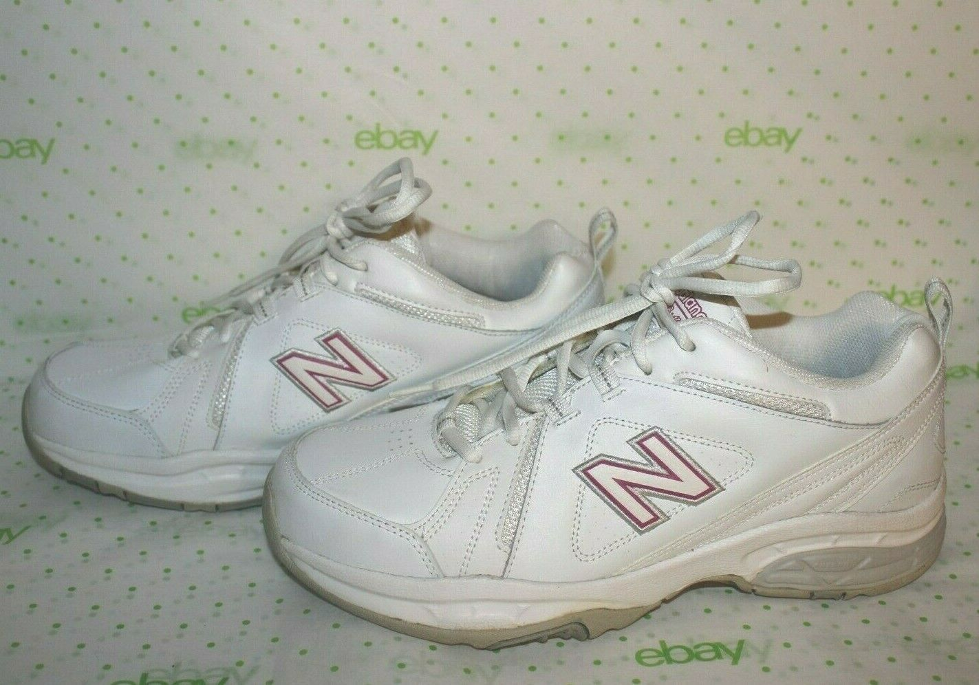 ✿ NEW BALANCE 608 Cross-Traning White Pink Shoes Sneakers 11 Wide GREAT! L@@K!15