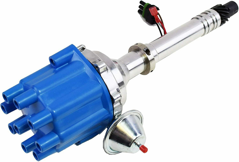 Pro Billet Series R2R Distributor GMC Chevy SBC BBC V8 327 350 396 454 Blue