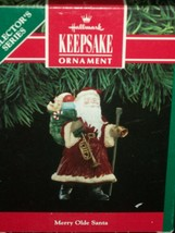 Hallmark Ornament 1991 Series 2nd Christmas Tree Merry Olde Santa Toy Bag - $20.31