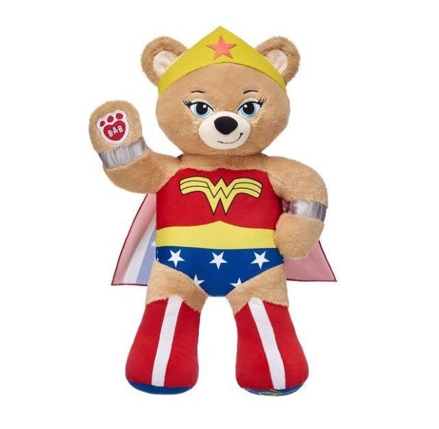 "BAB Build-A-Bear DC Comics Wonder Woman 16"" Plush EXCLUSIVE NEW!"