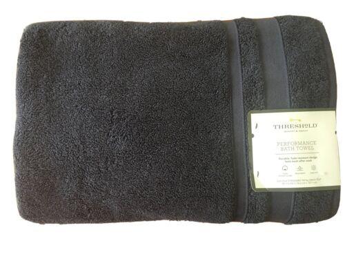 "Threshold Performance Blue Hand Towel- Navy Blue-  30""x54"""