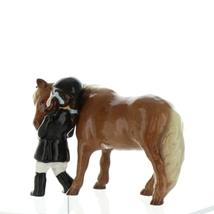 Hagen Renaker Specialty  Horse Girl and Her Pony Ceramic Figurine image 4