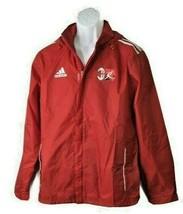 Adidas ACM  Nylon Windbreaker Jacket Red  Full Zip Small - $106.39