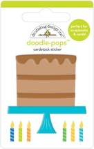 Doodlebug Doodle-Pops 3D Stickers-Chocolate Cake - $10.31