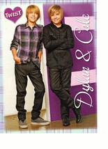 Dylan Sprouse Cole Sprouse teen magazine pinup clipping purple shirt cross leg