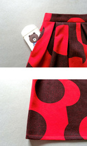 RED Winter Pleated Skirt Women Red Polka Dot Skirt Christmas Outfit Plus Size  image 6