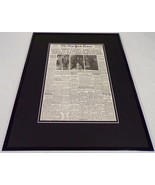 New York Times Feb 21 1962 Framed 16x20 Front Page Poster John Glenn Orbits - $74.44