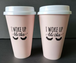 2 Travel Coffee Beverage Tumbler Cups Reuse Recycle Disposable To Go 16o... - $4.99