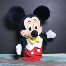 "Disneyland Walt Disney World Mickey Vintage Plush Hand Puppet 10"" Made i... - $15.99"