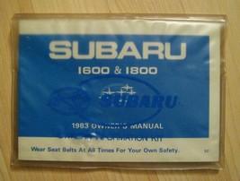Subaru 1600&1800 Owners Manual 1983 - Vintage Original Japan Auto Japonés Coche - $89.03