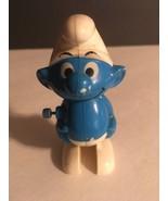 "Vintage 1980 Smurf Walking Wind Up Figure Peyo  White & Blue Plastic 3"" - $2.80"