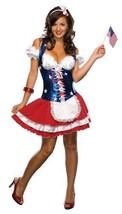 Womens Patriotic Costume Small Red White Blue Firecracker Secret Wish Di... - $35.99