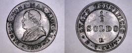 1867-XXIIR Italian States Papal States 1/2 Soldo World Coin - Pius IX - $34.99