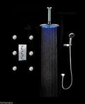 """8"""" LED Round Shower Head System Thermostatic Valve & 6 Massage Spray Body Spray - $609.81"""