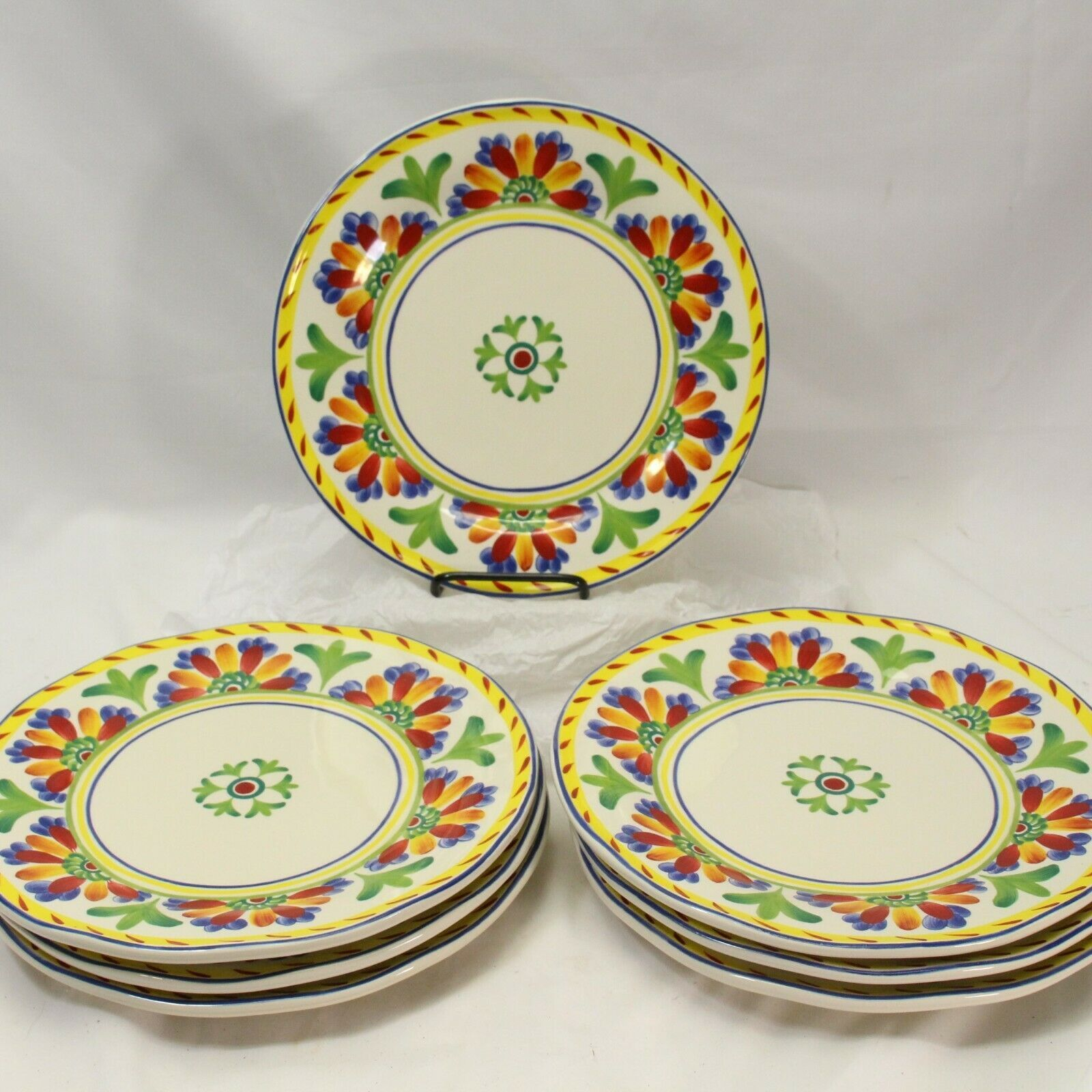 Cert International Joyce Shelton Studios Amalfi Palermo Dinner Plates Lot of 7 - $97.99
