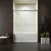 KOHLER Bathtub Door 59 in. x 62 in. Sliding Frosted Tempered Glass Chrome - $641.06