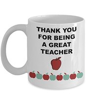 Mugs For Teachers/Thank You For Being A Great Teacher/ Novelty Coffee Mug/Sentim - $14.95