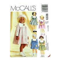Vintage Sewing Pattern Toddler Coat Dress Hat Uncut Size 2 3 4 McCalls P... - $9.79