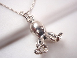 Octopus Pendant 925 Sterling Silver Corona Sun Jewelry sea ocean beach w... - $13.85