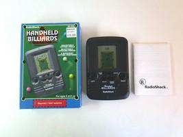 Vintage 1996 Radio Shack Handheld BILLIARDS Electronic Game No. 60-2657 w/Box - £5.45 GBP