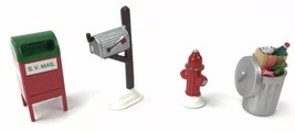 Dept 56 Snow Village - Mail Box, Fire Hydrant, Trash Can, S.V. Mail - $29.65