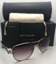New BVLGARI Sunglasses 6053-B-M 376/8D 60-16 Pink Gold Frames w/ Violet Gradient
