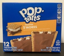 New Kellogs Pop Tarts Frosted S'mores 27 Oz Box 16 Toaster Pastries Value Pack - $12.98