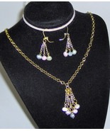 Custom Made! Handcrafted Necklace Earring Set, Fresh Water Pearls  - $37.95