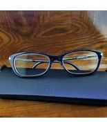 Womens PRADA VPR 04P Blue Eyeglasses Frames 52-17 with Case  - $29.95