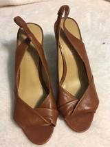 Nine West Brown Leather High Heel Sandals Size 7 - $22.28