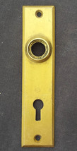 Vintage SOLID Cast Brass Door Knob Doorknob Keyhole Plate Escutcheon Key... - $16.14