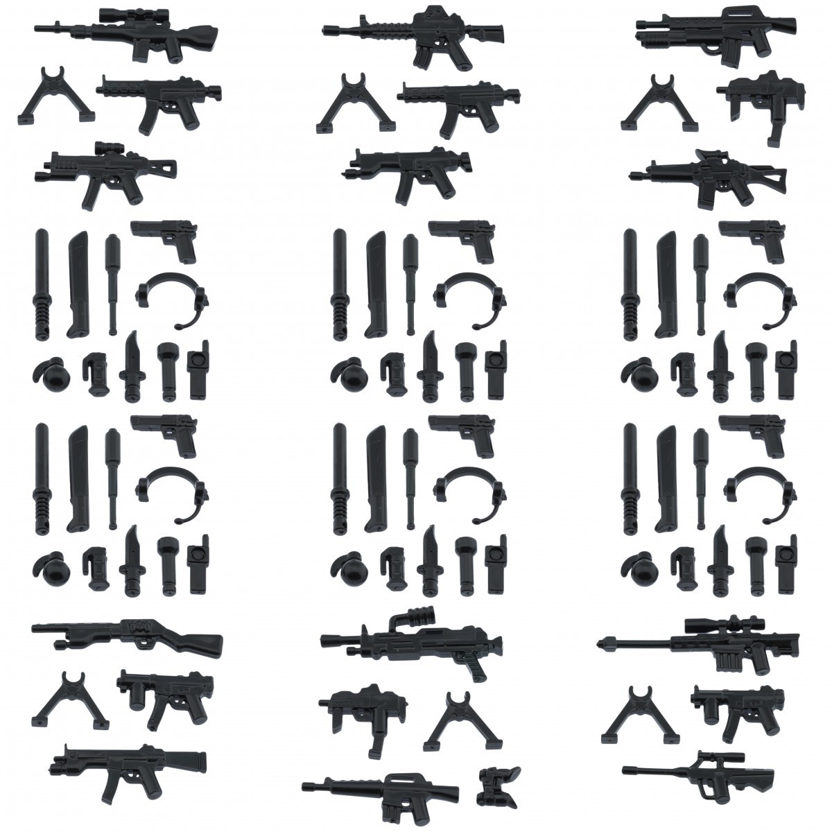 Custom army military guns weapons pack for lego minifigures minifig accessories 12 piece set