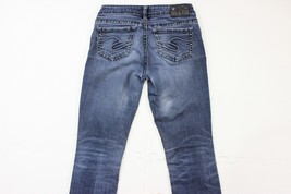Silver Aiko Baby Boot Distressed Medium Blue Denim 5-pocket Jeans Womens... - $19.24