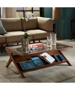"""Ink + Ivy """"Mid century Modern Style"""" Wood & Glass Rocket Coffee Table - $398.00"""