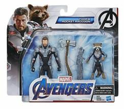 NEW SEALED 2018 Marvel Avengers Thor & Rocket Raccoon Action Figure Set - $23.12
