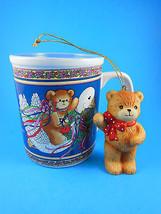 Vintage 1985 LUCY AND & ME Christmas Goose Mug & ornament Enesco - $15.83