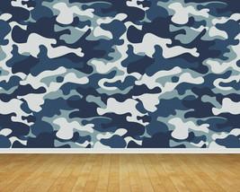 Naval Army Camouflage Backdrop Wall Art Mural Wall Paper Self Adhesive Vinyl V1 - $43.11+