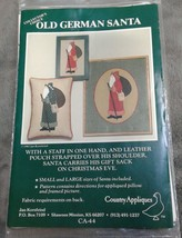 Old German Santa Country Appliques Sewing Pattern Pillow Picture CA-44 U... - $12.18