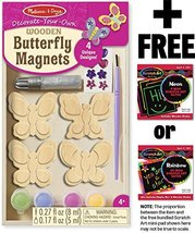Wooden Butterfly Magnets: Decorate-Your-Own Kit + FREE Melissa & Doug Scratch Ar - $19.55