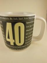 Vintage Russ Berrie Birthday  Forty Over The Hill Series 12 oz Stoneware Mug NIB - $9.89