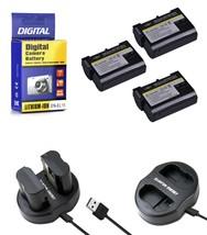 3 EN EL15 Batteries+Charger for Nikon DSLR D7200-D7100-D7000-D810-D800-D750-D610 - $35.99