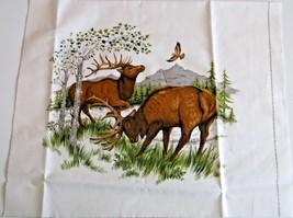 "Elk Quilting Crafting Sewing Pillow Panel 14.25"" x12.5"" Cranston Screen ... - $5.24"