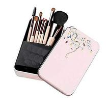7 Pcs Synthetic Foundation Eye Shadows Makeup Brush Sets(Pink)