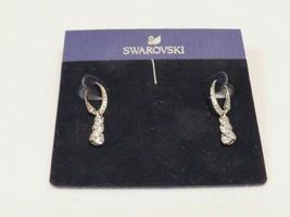 Swarovski Silver Crystal Drop Dangle Earrings - New - $54.45