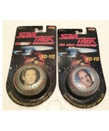 2 1993 Star Trek Next Generation Paramount  Yo-Yo's New in Pack  - $5.00